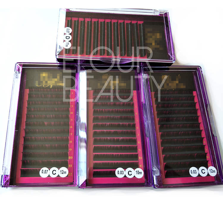 Luxury private label mink false eyelash extensions factory supply ED140