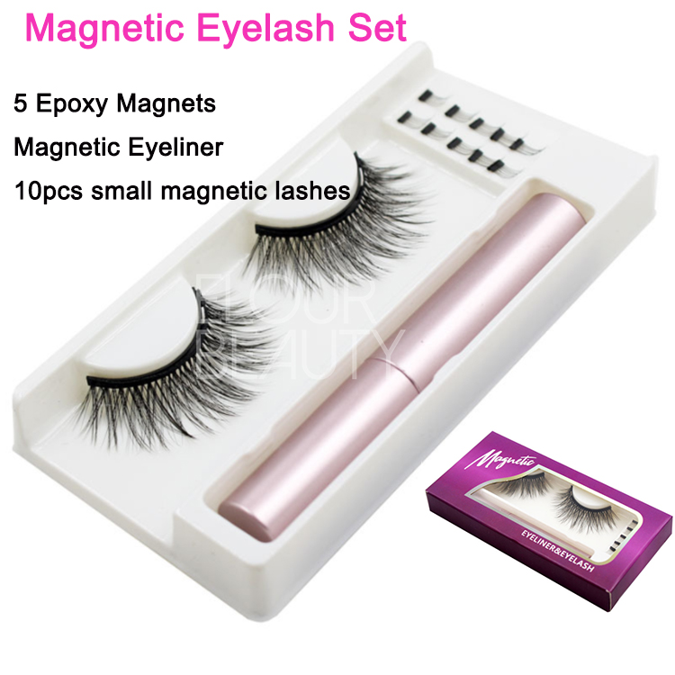 Private label magnetic eyeliner magnetic 3D faux m...