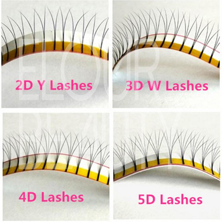 00760d04a10 Korean individual flare cluster eyelash extensions ES68 - Elour Lashes