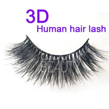 Human hair 3d eyelash extensions with customized pack and logo ES87