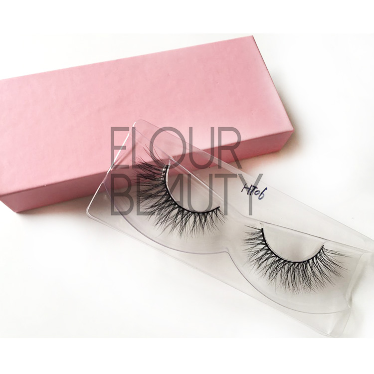 Private label makeup 3d mink kiss lashes China EJ26