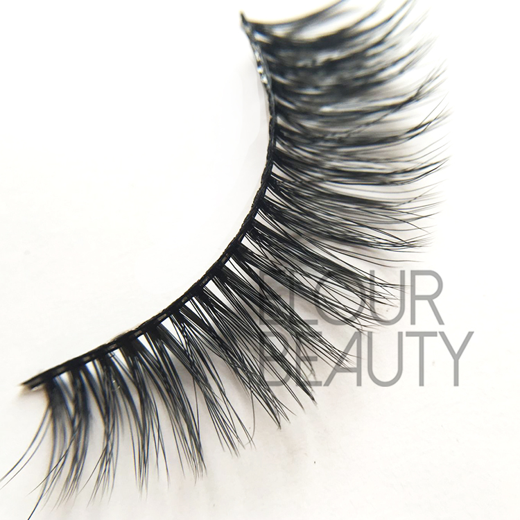 Faux mink 3d eyelashes made by eyelash fibers  China EJ62