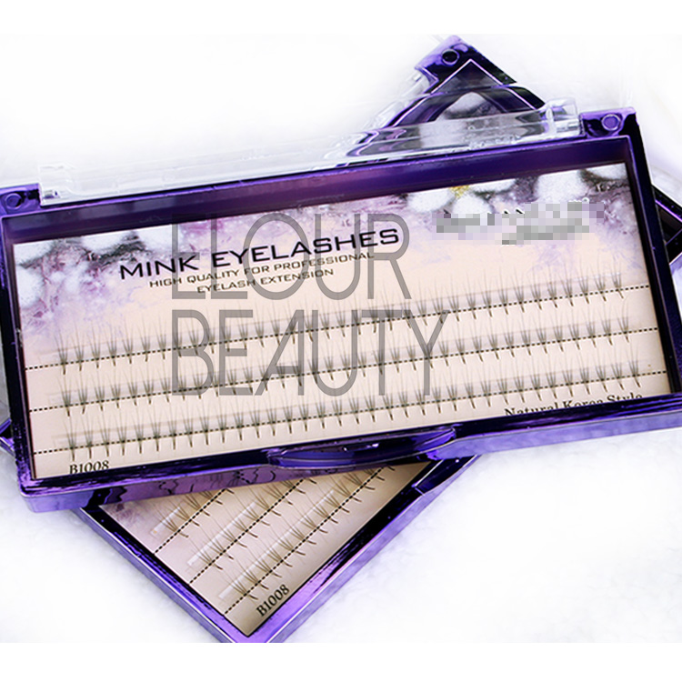 Wholesale beauty cluster eyelash extensions knot free EJ61