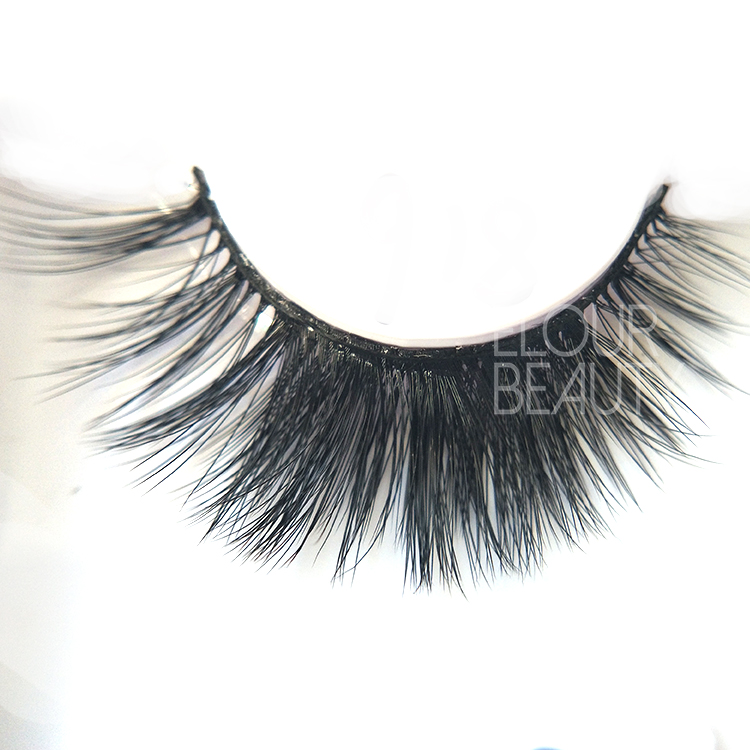 Faux mink 3D lashes eyelash extensions manufacturer China ED90