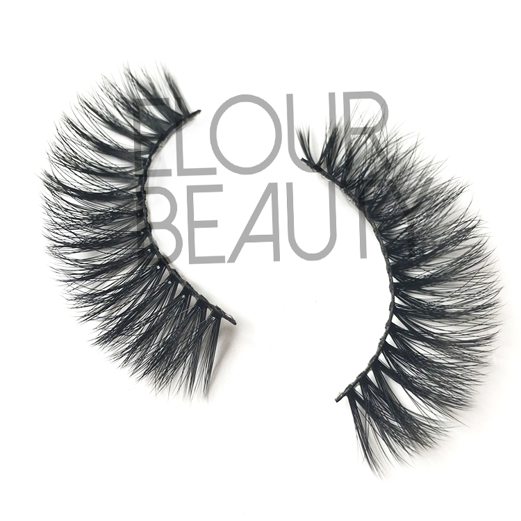 3D faux mink volume false lashes low price supplies China EA106