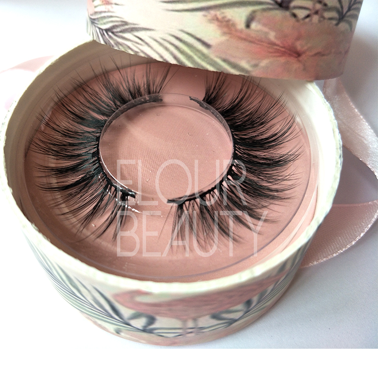 Hot sale premium faux mink 3d lashes with custom logo ED135