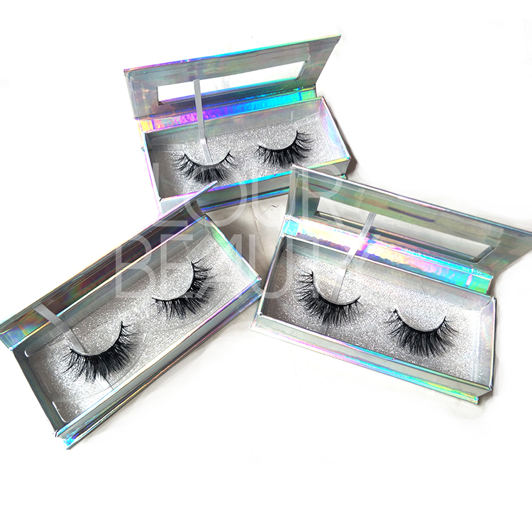 3D Faux Mink Volume Silk False Eyelash Private Label Wholesale EL07