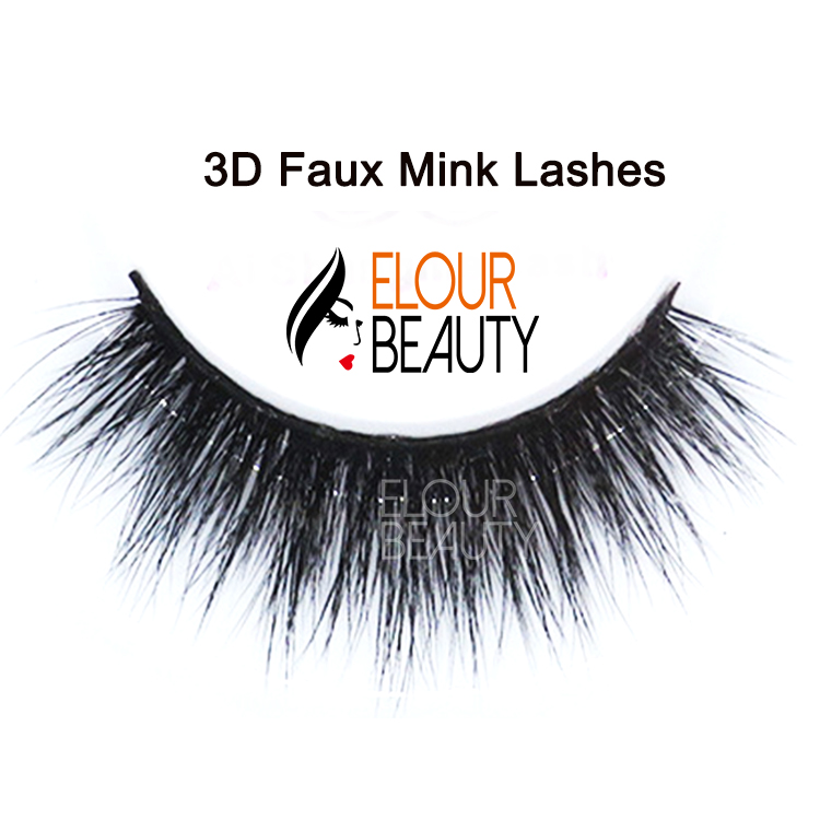 Super quality 3D faux mink lashes private label China EA66