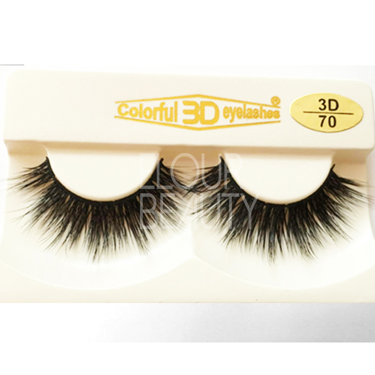 3D silk lashes fiber hairs private label China EJ81
