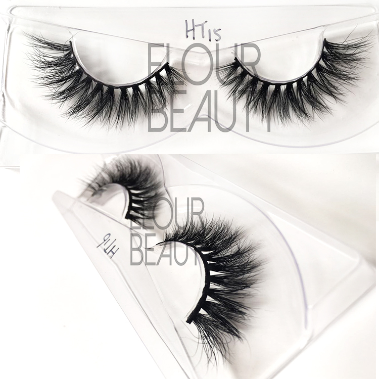 Luruxry 3D mink fur lashes with OEM package EJ44