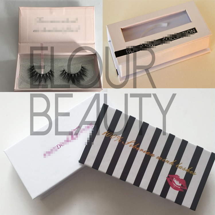 Excellent 3D real mink eyelashes with magnetic boxes wholesale EA30