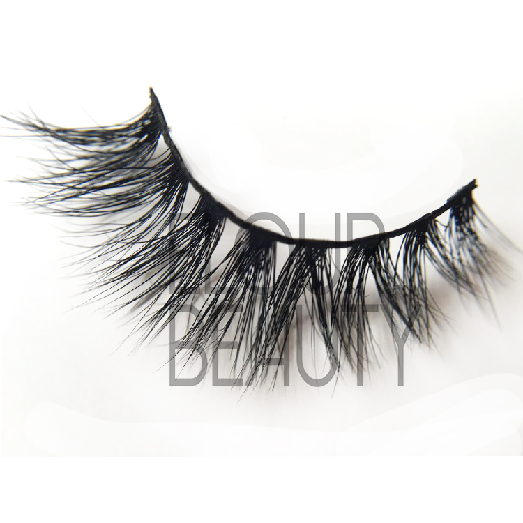Private label 3D mink strip lashes wholesale China EJ38