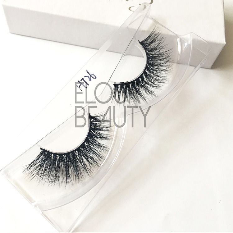 Unique design 3d mink eyelashes the beautiful eyelashes EA55
