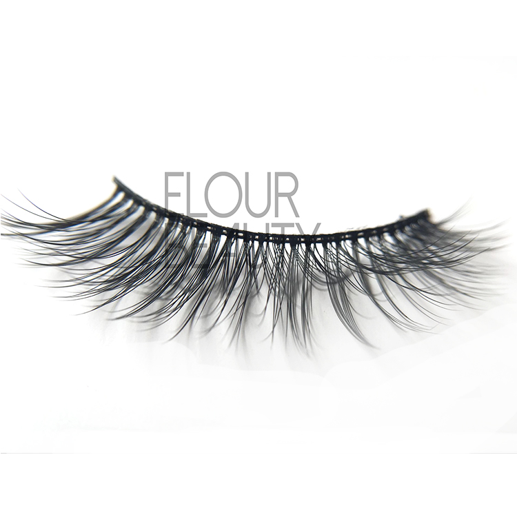 Cheap faux mink  3D invisible bands long eyelashes EJ55