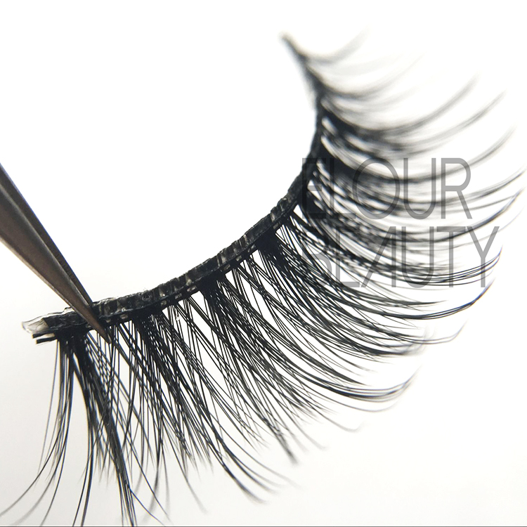 Cheap fake eyelashes 3D eyelashes silk hair China factory EJ63