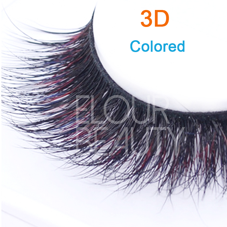 High quality colored 3D hollywood eyelashes EJ32