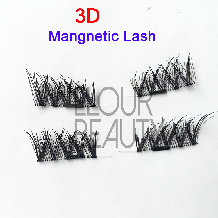 The newest private label 3D invisible magnetic lashes  EJ54