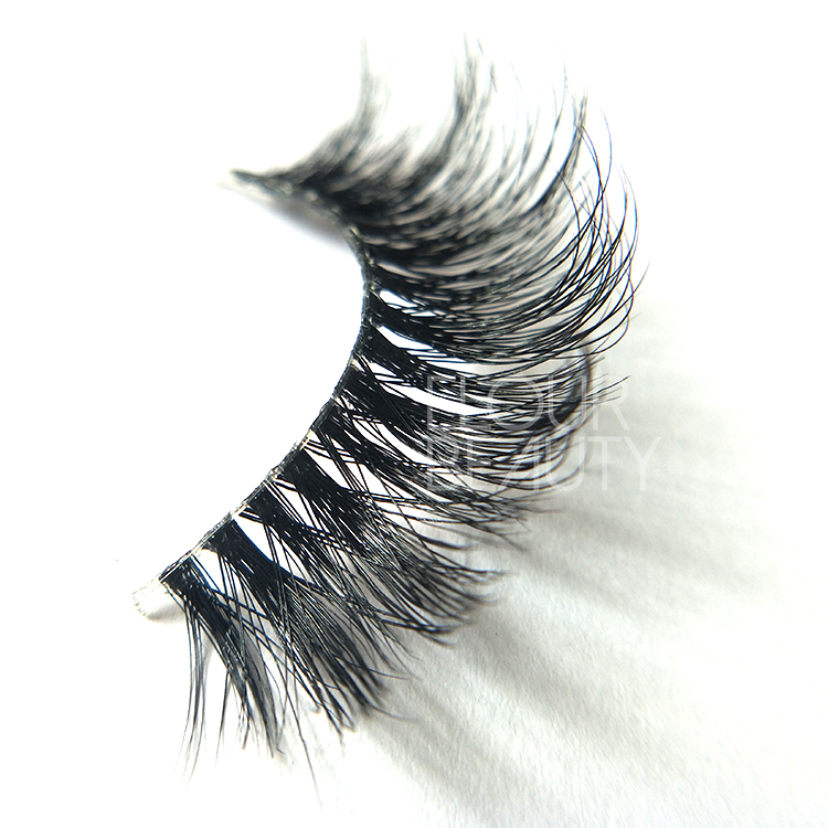 3D naked band long mink lashes best lash cosmetics China ED89