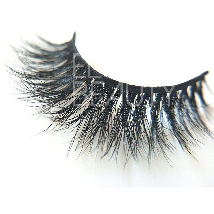 100% handmade 3D mink strip eyelashes factory ED68