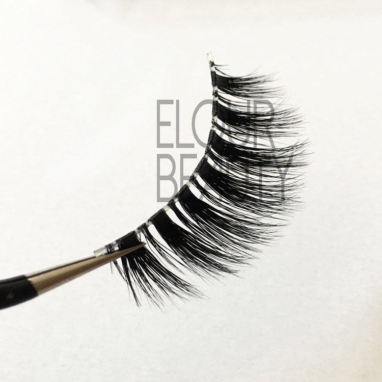 Top quality invisible band mink 3d beauty lash EJ48