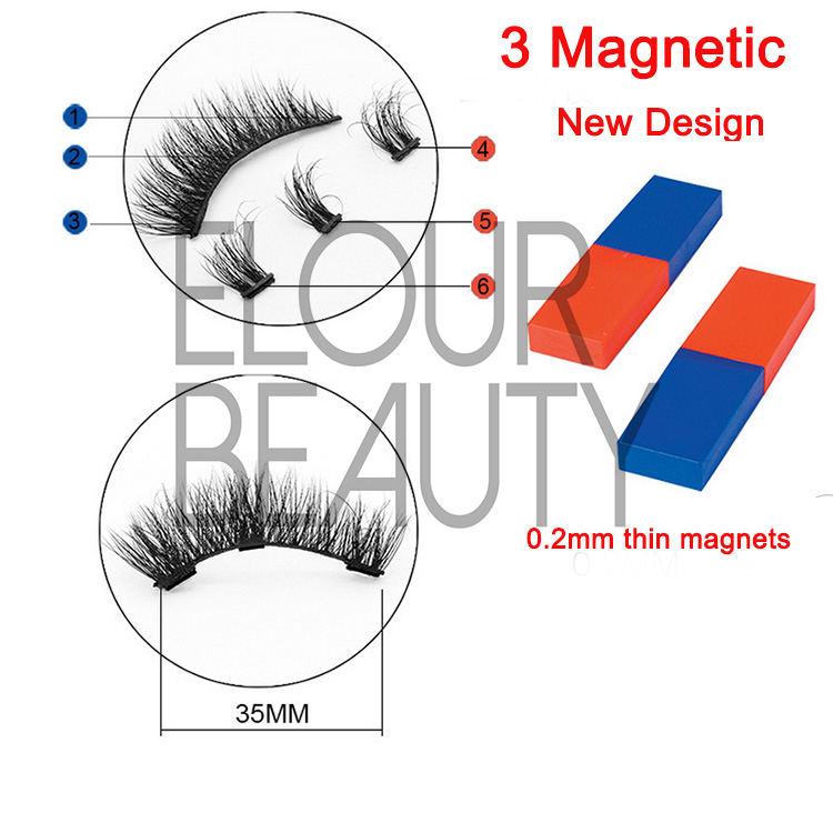 Mink fur 3d magnetic eyelashes best quality China manufacturers EA13