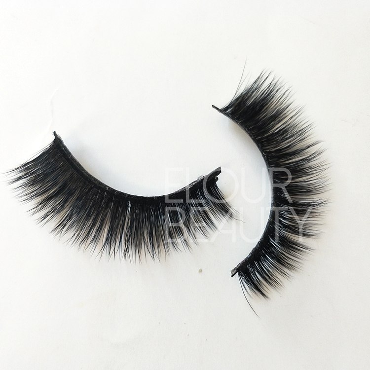 Private label 3D silk strip false lashes angel wing China ED28