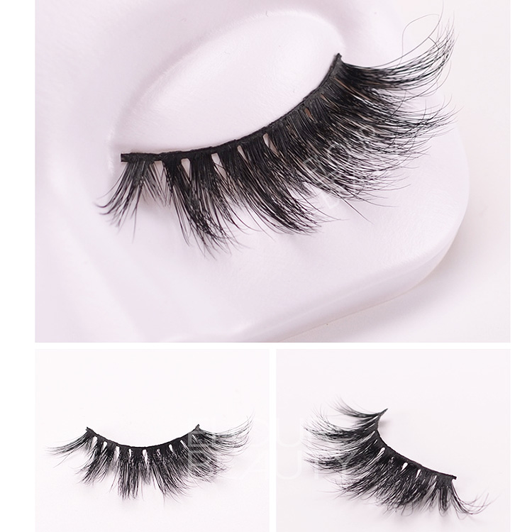 Private label 5D mink strip lashes wholesale EL96