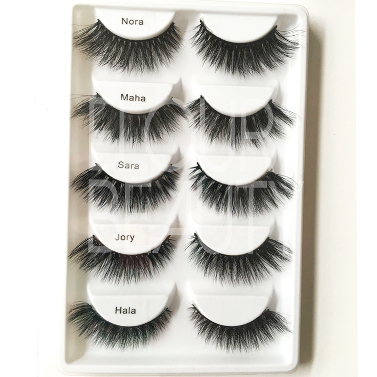 Hot selling glamorous 3D real mink eyelashes in 5pairs ES47
