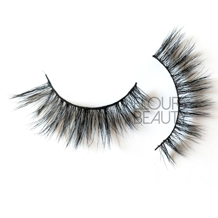 2019 newest fluffy private label 5D faux mink strip lashes wholesale EY21