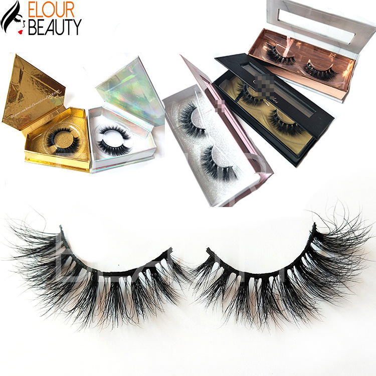Newest long private label 5D real mink strip lashes Australia EY03