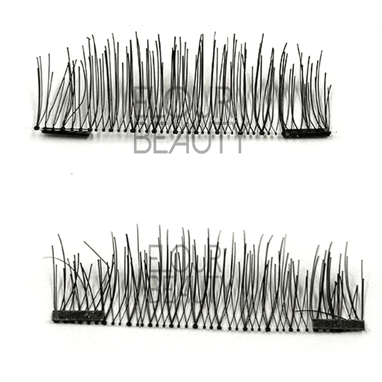 Reusable magnetic luxury lashes without glue China factory EA62