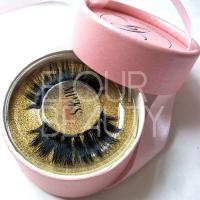 Factory supply mink 3D double eyelashes with private label box ED133