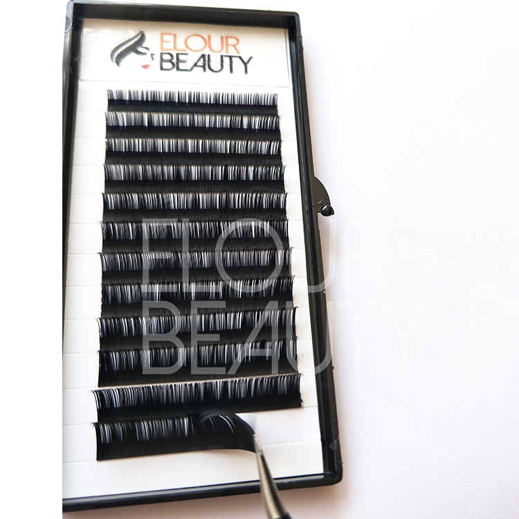 Volulume 3D beauty lash extensions with U-band holder and tweezers wholesale ED129
