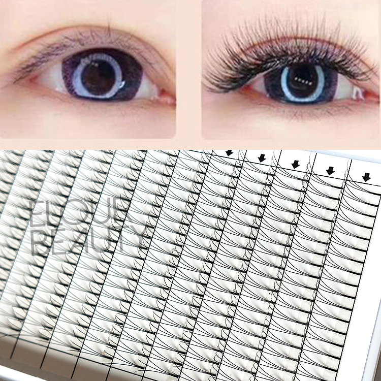 Premade Russian volume 3D,5D fans short stem eyelashes extensions EY33