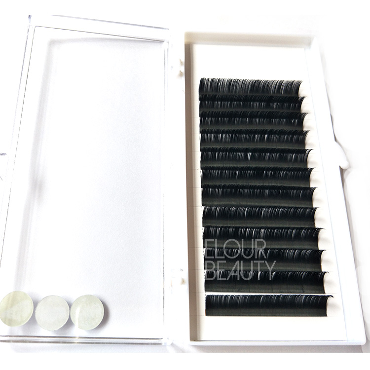 Y-tip cashmere matte ellipse flat eyelash extension wholesale China EL30