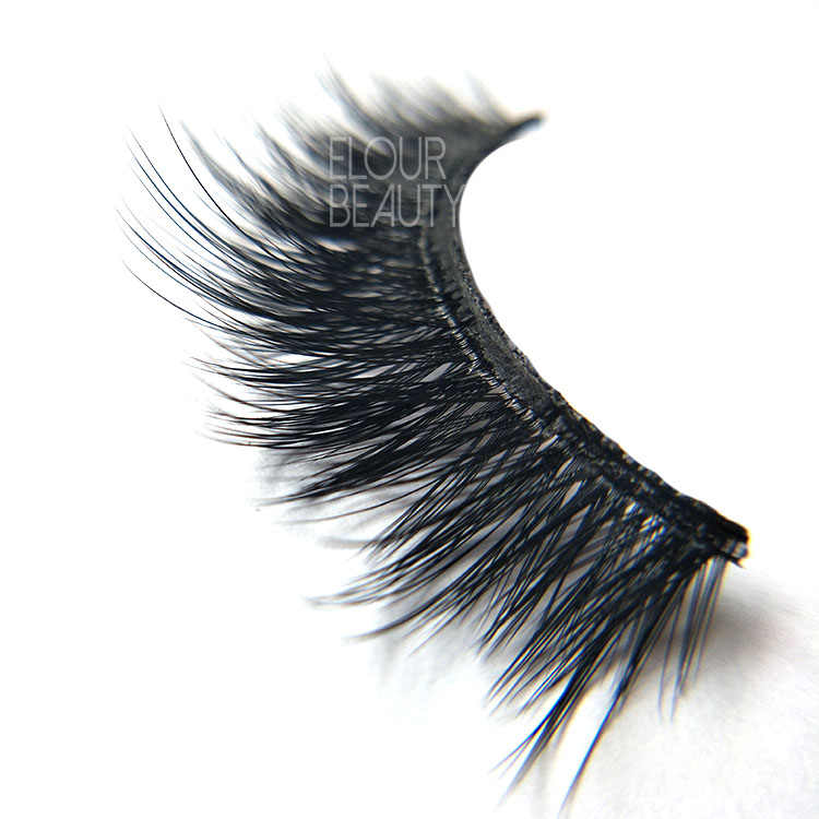 Private label 3D faux mink strip false lashes angel wing China EL41