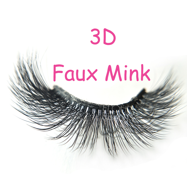 Wholesale beauty soft 3D faux mink eyelash natural looking EL79