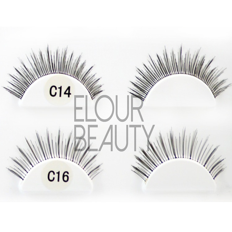 Human hair lashes are the best natural fake lashes to buy ES55