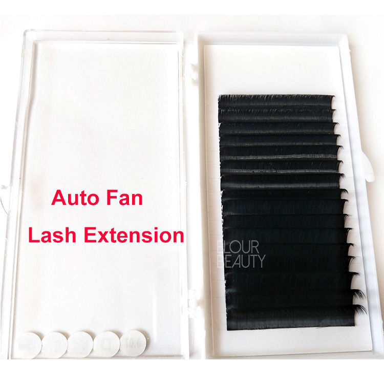 Russian volume blooming eyelash extension private label suppliers