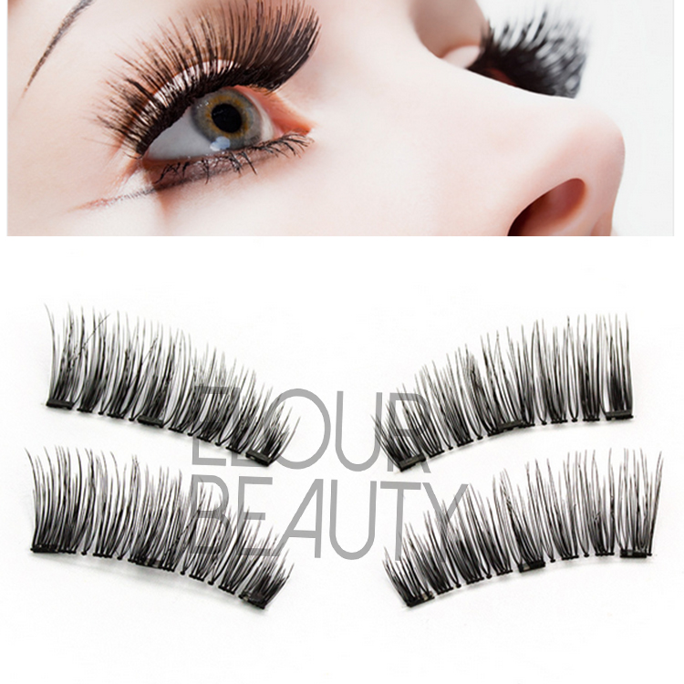 d26889dfe86 Best reusable 3 magnets false lashes with magentic boxes China EA103 ...