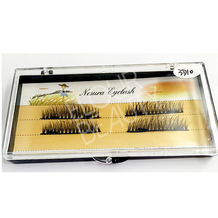 Private label 3D magnetic fake eye lashes China wholesale EA114