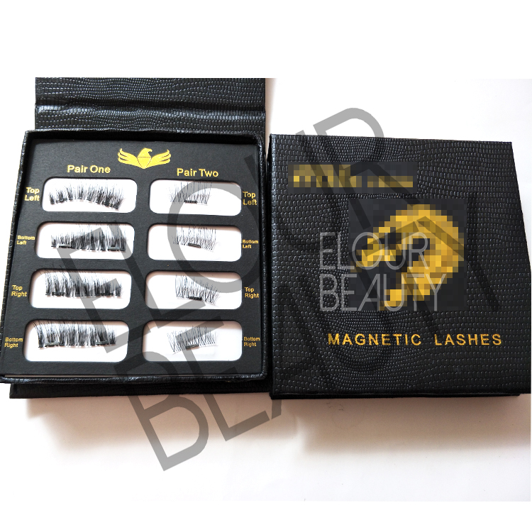 3D magnetic lashes two lashes private label wholesale supplies EA91