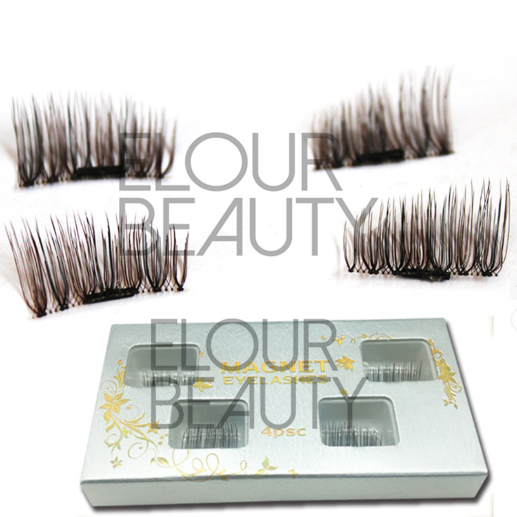 Newest magnetic brown false eyelashes wholesale supplies EA64