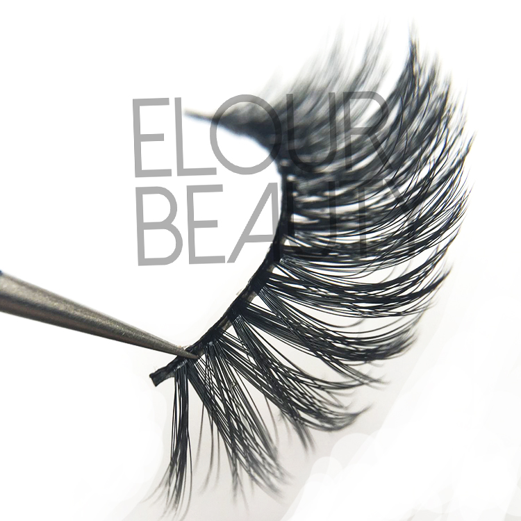 Premium quality 3D double eyelashes in multiple layers  EJ56