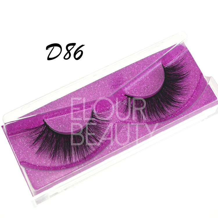 3D Korean silk false strip lashes private label EA129 - Elour Lashes