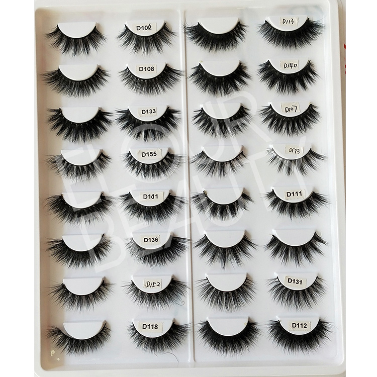 Best 3D mink faux eyelashes china lashes factory EL134
