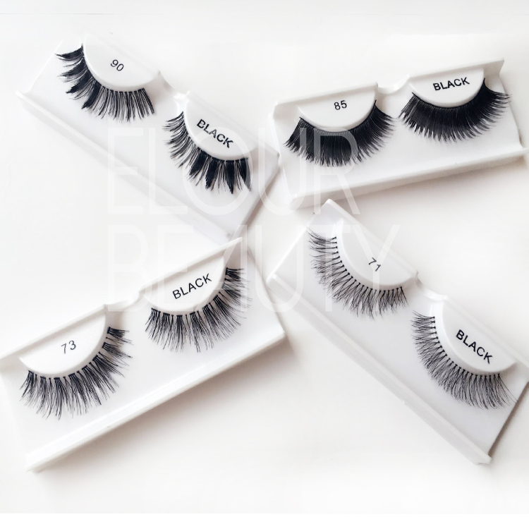 Wholesale supply cheap false eyelashes with lash glue ES65