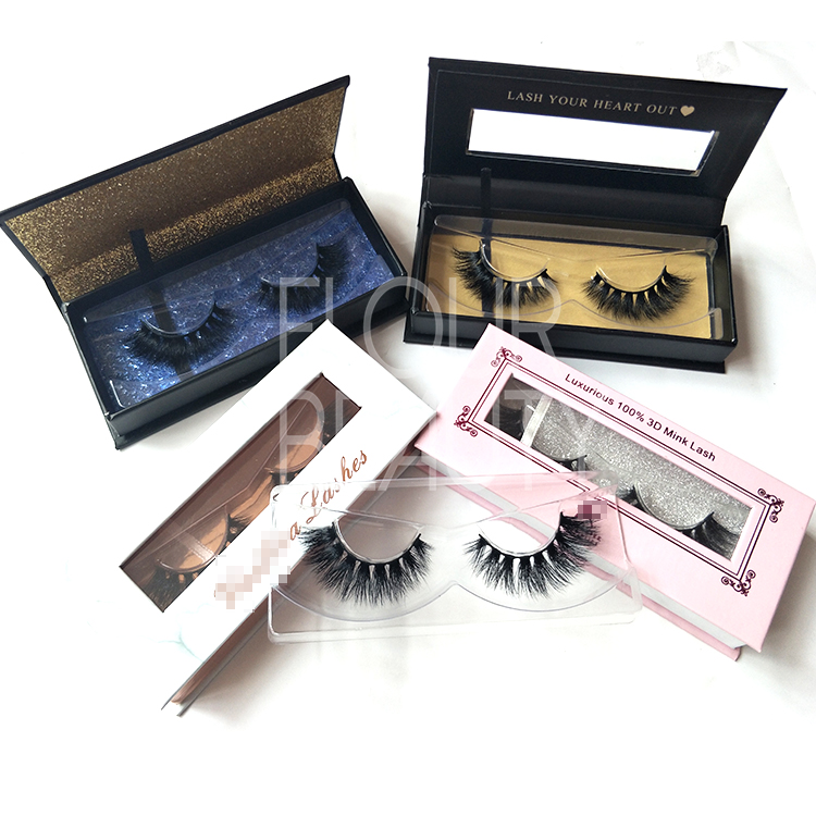 Create your own brand natural volume 3D mink eyelashes vendors China EL19