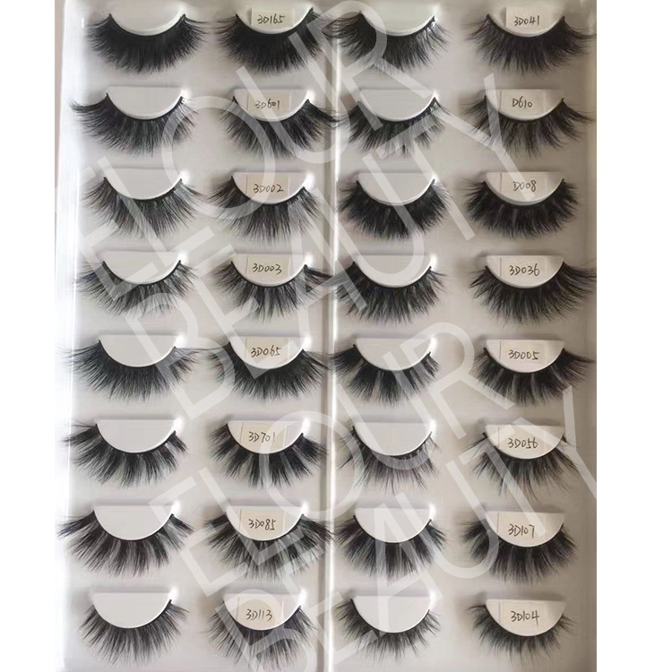 Luxury 3D real mink eyelashes wholesale China factory EJ96