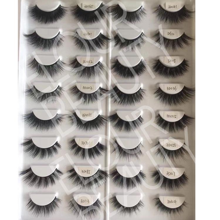 75ca8c956ab Luxury 3D real mink eyelashes wholesale China factory EJ96 - Elour ...